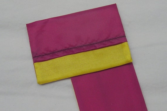 MINI Blustery Day FlipFlap Sack--Fuchsia and Yellow