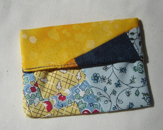 Scrappy Lined MINI FlipFlap Sack--Yellow Snack Bag