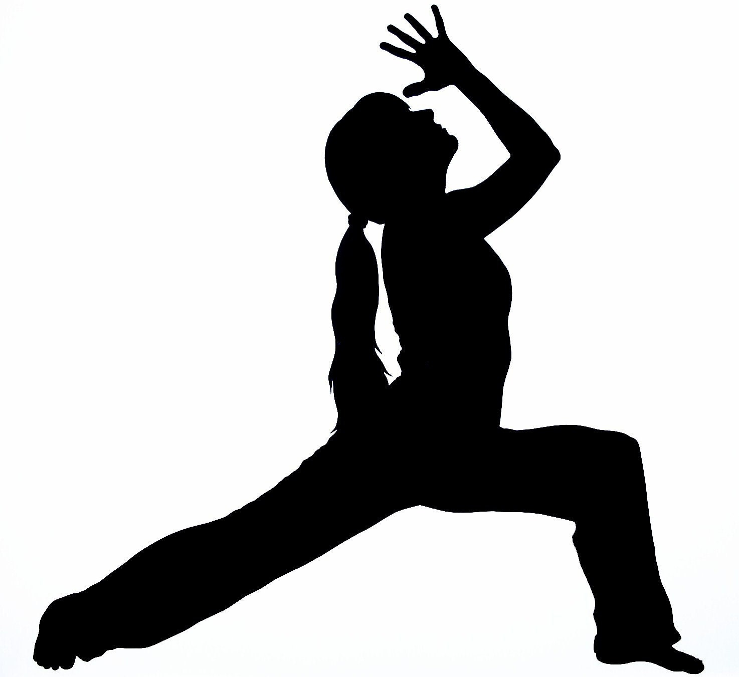 Yoga Silhouette by silhouettesbycarolin on Etsy