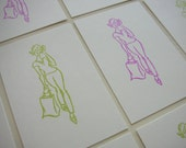 Shopping Gal Tags - Set of 8 - Gift Tags - Scrapbooking Supplies - Paper Goods