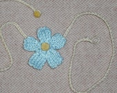 Hand-Knitted Flower Necklace