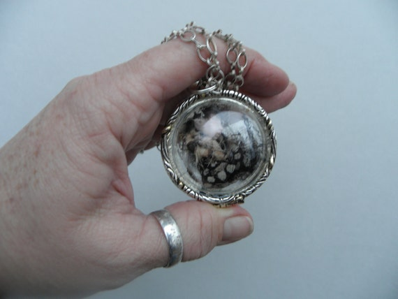 3 ooak TINY FAIRY in a LOCKET necklace it opens