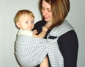 Ring Sling Carrier - Baby Sling - Hounds tooth