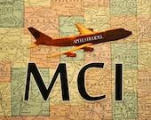 ARTWORK. Up in the Air Series. MCI. Kansas City International Airport.