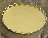 Brass Round Lace Edge Setting 31mm - 1125 - 6 Pcs