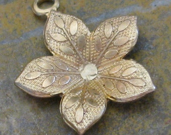 Brass Flower Charms Jewelry Finding 597