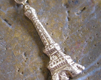 Brass Eiffel Tower Building French Charms Jewelry Findings 1270 - 6 Pcs