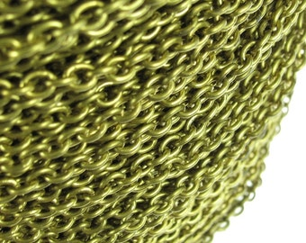 Solid Brass Cable Chain Jewelry Finding CHV01 - 5 Feet