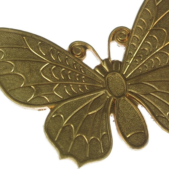 3 Raw Brass Butterfly Metal Stampings Jewelry Findings 979