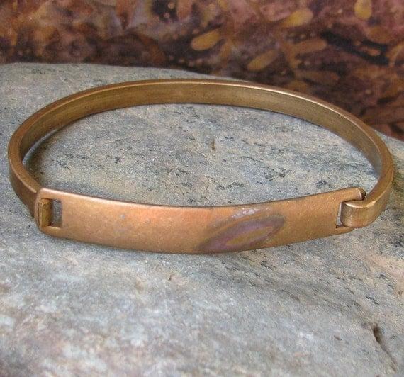 Brass Bangle Name tag Bracelet Metal Stamping Blank 1331 - 1 Piece