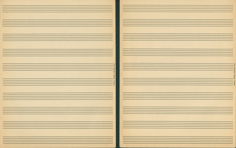 free music staff paper