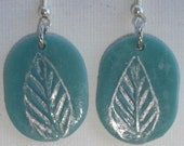 Jade leaf earrings - Orecchini giada foglie