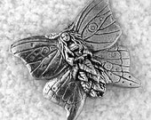 20% OFF COUPON SALE~Green Girl Studios Butterfly Forest Faerie Pewter Pendant
