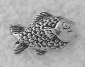 Green Girl Studios Pewter Baby Fishy Bead