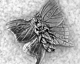 Green Girl Studios Butterfly Forest Faerie Pewter Pendant