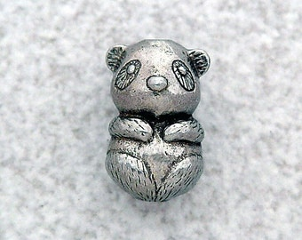 Green Girl Studios Panda Baby Pewter Bead