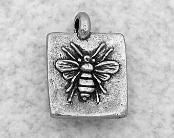 Green Girl Studios Sweet Honey Bee Pewter Charm