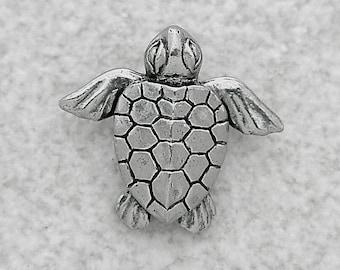 Green Girl Studios Pewter Baby Honu Sea Turtle Pendant