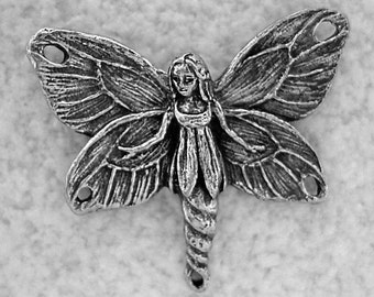 Green Girl Studios Fairy Centerpiece Pewter Pendant