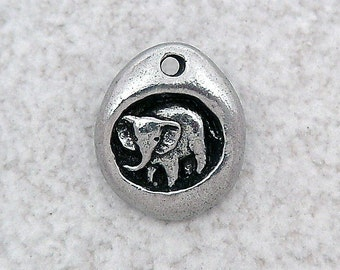 Green Girl Studios Pewter  Elephant Charm
