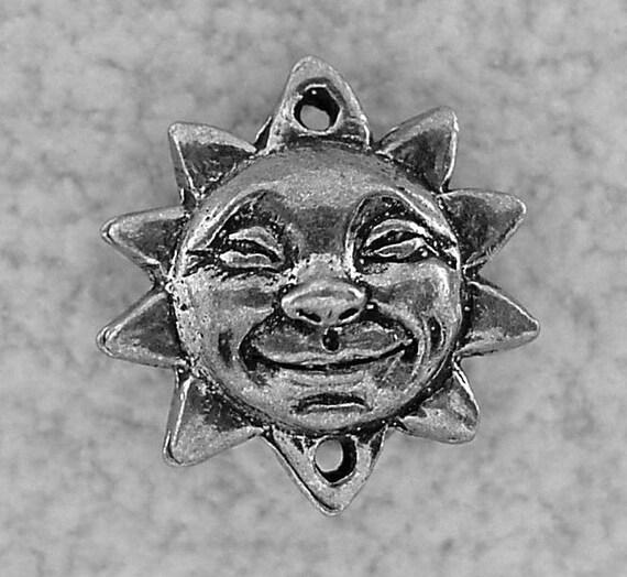 Green Girl Studios Smiling Sun Pendant