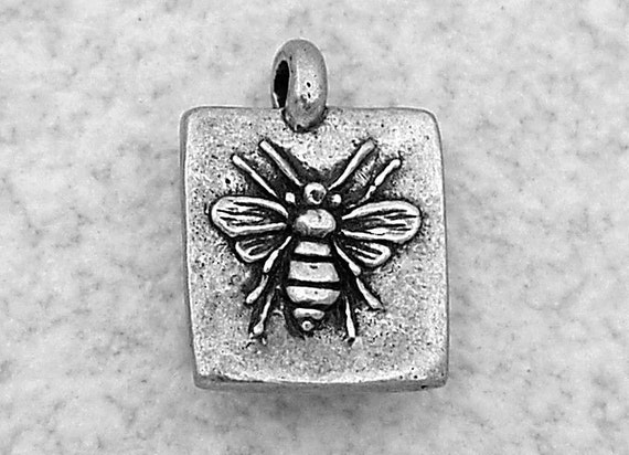Green Girl Studios Sweet Honey Bee Pewter Charm