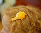VALENCIA - crochet felt embroidered Hair Clip