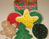 ON SALE - Christmas cookie felt play set