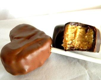Julie's HEART SHAPED Fudge Pops - Peanut Butter Fudge - 1 1/3 Pounds - Six Hearts Total