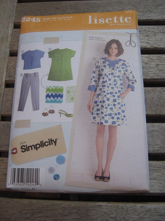 Lisette Portfolio Sewing Pattern by Simplicity 2245 Sizes 6-14
