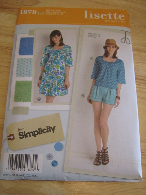 RESERVED Lisette Souvenir Sewing Pattern by Simplicity 1879 Sizes 6-14