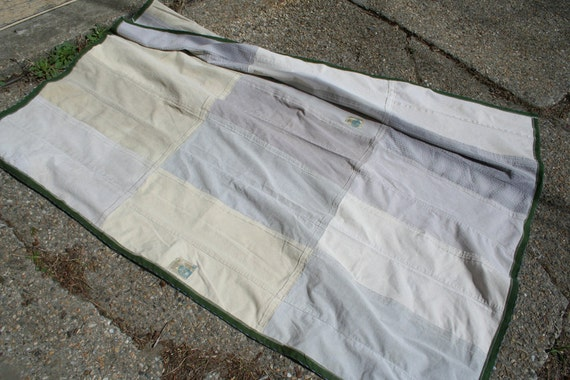Brooklyn Picnic Blanket - Made from recycled jeans and corduroys