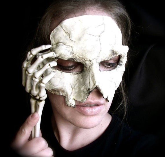 Paper Clay Mask Skull Mask in Clay