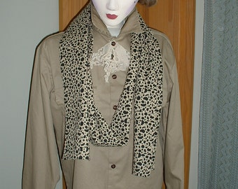"Upcycled  Jacket w/Vintage Jabot, Handmade Large Shawl & Long Skinny Scarf by ""Pretty in Plus"""