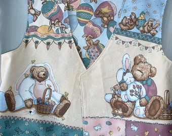 Children's Clothing, Reversible Easter Vest, Bears & Rabbits, It's an OOPS, Priced Accordingly