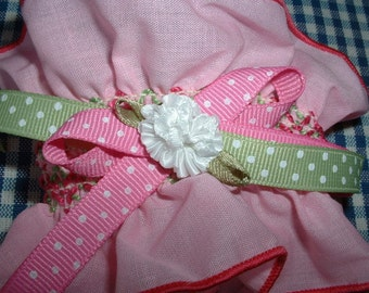 Cuff Wrist Pink w/Smocking Design, Sweet Spring, Summer