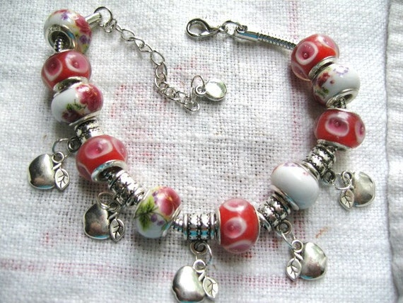 Prince Charming No. 3 .... charm bracelet with large holed beads and charms