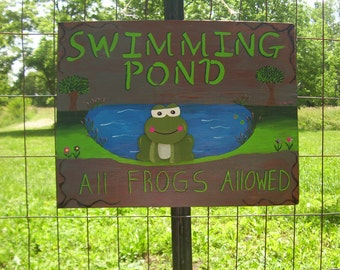 swimming   pond  all  frogs allowed