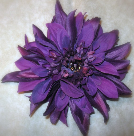 Purple Flower Clip Pin