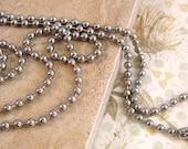 Bulk Antique Silver Ball Chain from Nunn Design - 2.4mm - 3 Feet and 3 Clasps