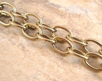 5mm Oval Cable Chain from Trinity Brass in Antique Gold - 3 feet