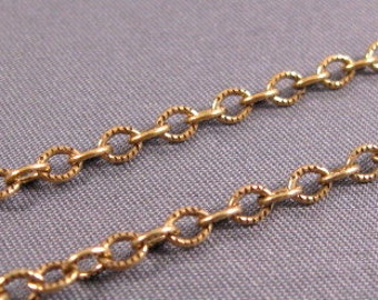 Cable Chain 4mm Etched from Trinity Brass in Antique Gold - 5 Feet