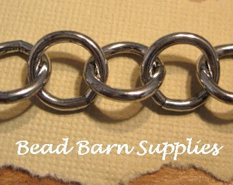 Round 10mm Chain from Trinity Brass in Antique Silver - 5 Feet