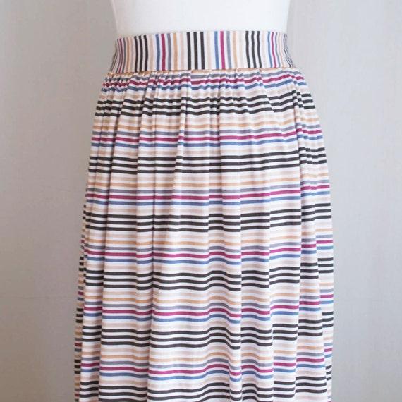 SALE medium stripe maxi jersey skirt