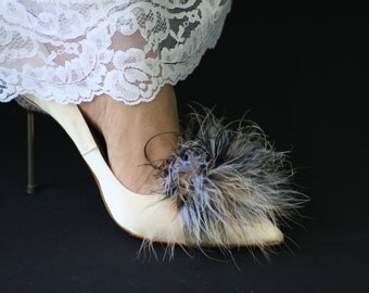 Earth Tones Feathered Shoe Clips