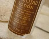 Vintage Bottle with Label