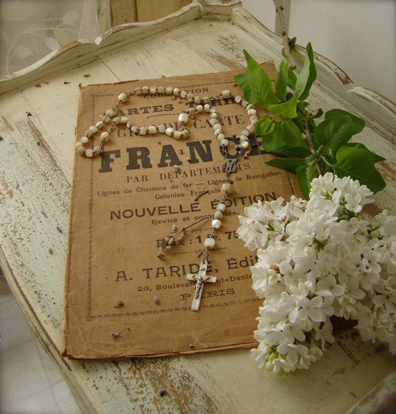 Mother of Pearl French Nordic Rosary