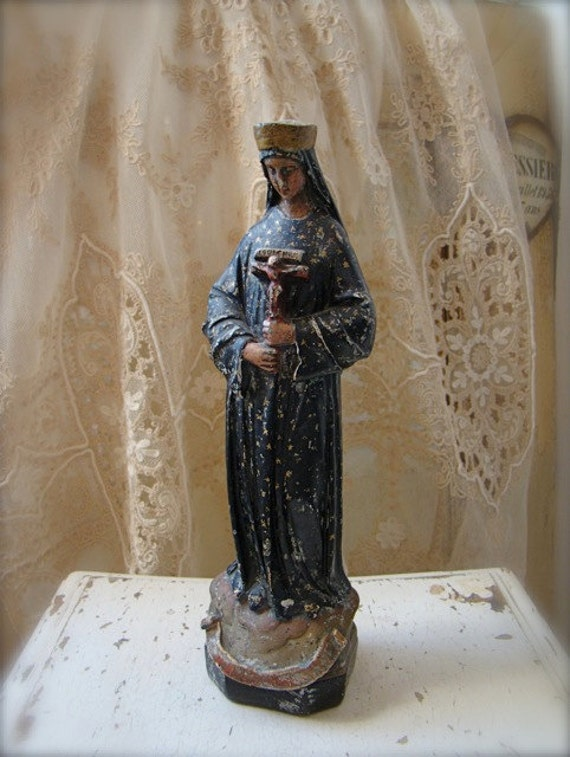 French Madonna Statue Our Lady of Pontmain