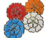 Jumbo Acrylic Flower Rose Ring - Adjustable Flower Ring - Choose Color