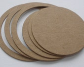 CiRCLES with circle outlines -  Coaster Matt CHiPBOARD Bare Die Cuts